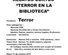 """I Concurso de relatos cortos """"Terror en la Biblioteca"""""""
