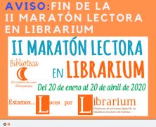 Próximo cierre del concurso «II Maratón Lectora en Librarium»