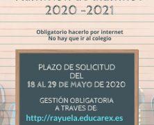 ADMISIÓN DE ALUMNOS/AS 2020/2021