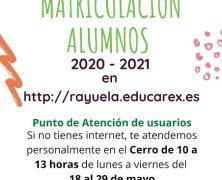 MATRICULACIÓN ALUMNOS/AS 2020-2021
