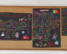 Mapas de escritoras. Erasmus Learn your culture y Librarium innovated